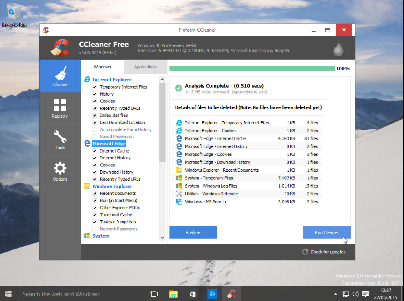 Ccleaner Can Now Clean Microsoft Edge And Ie12 Browsers