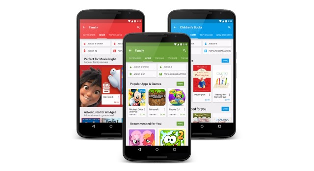 Google Play gets a family-friendly makeover