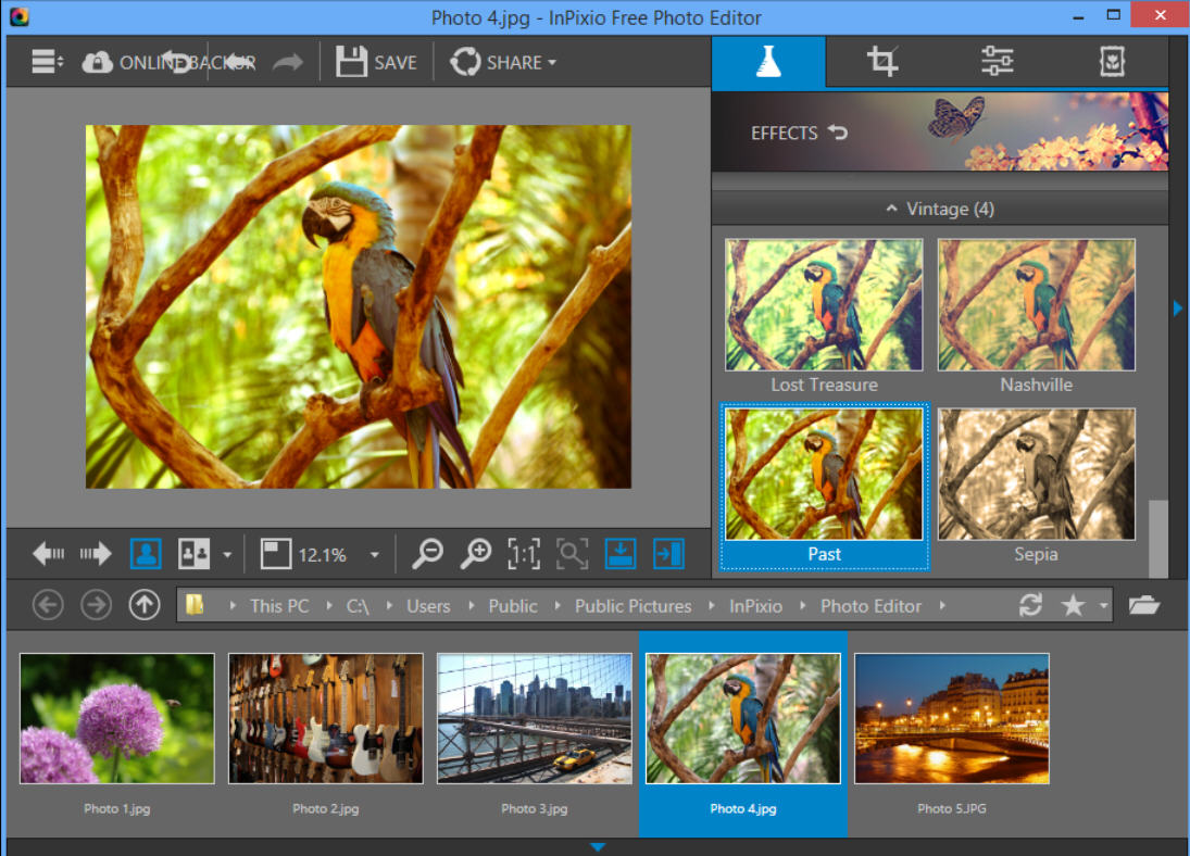 Inpixio photo editor is a 1 click photo enhancer Free photo software
