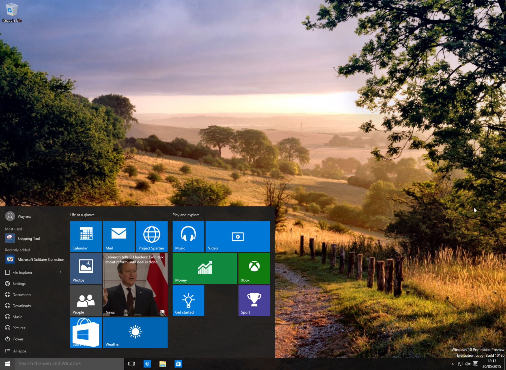 How to customize Windows 10 Insider Preview Build 10130