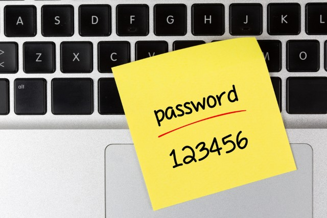 how to put in new password