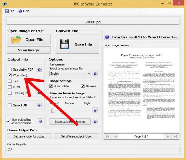 JPG to Word converter 3
