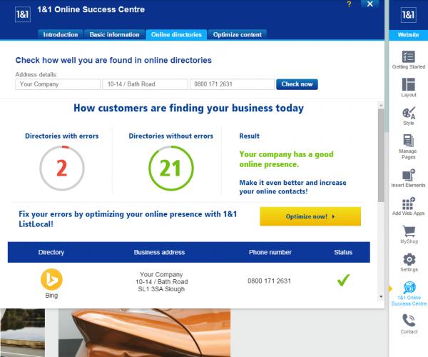 1&1 Online Success Centre