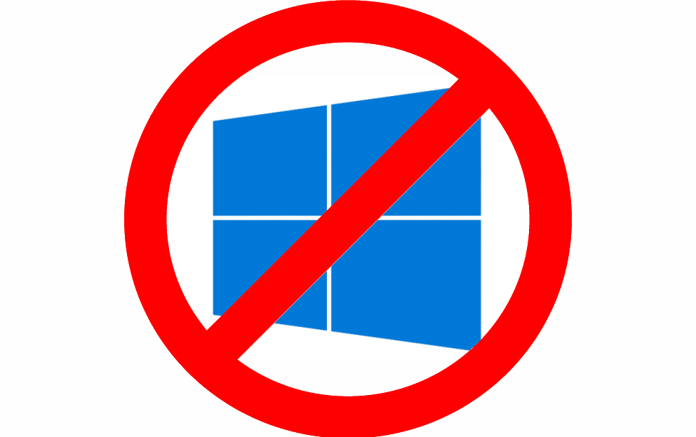 Windows 10 logo no