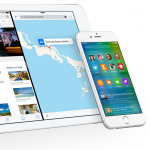 iOS 9 shown on iPad Air 2 and iPhone 6 Plus