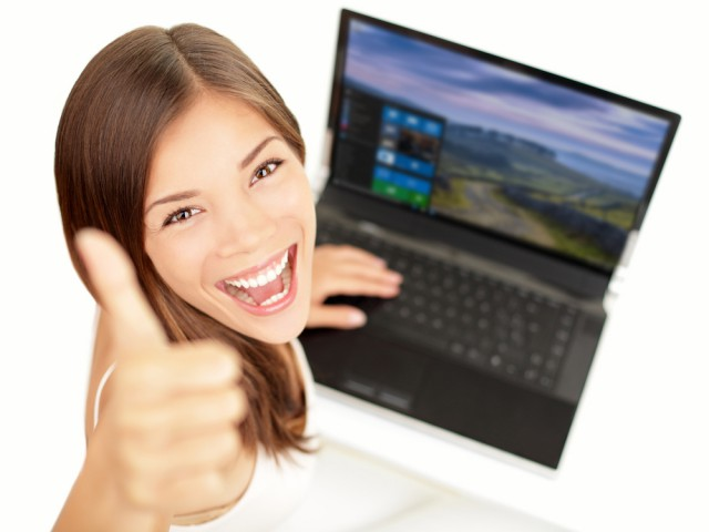 win 10 thumbs up