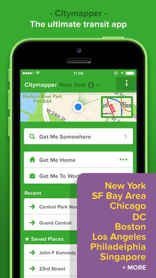 Citymapper iOS iPhone