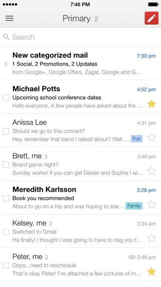 Gmail iOS iPhone