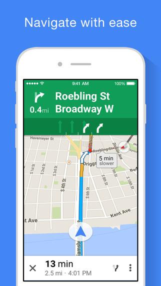 Google Maps iOS iPhone