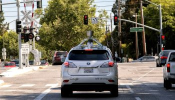 Google's self-driving car cars fleet Lexus