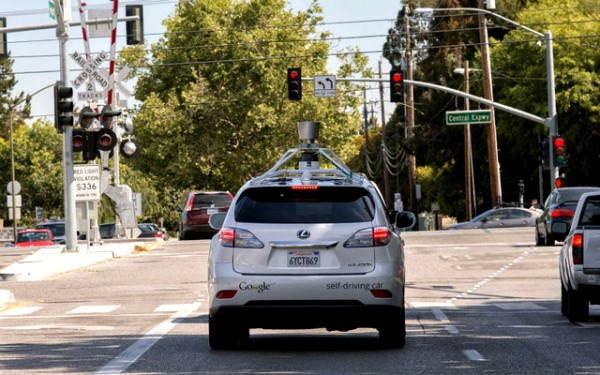 Google's self-driving car cars fleet Lexus