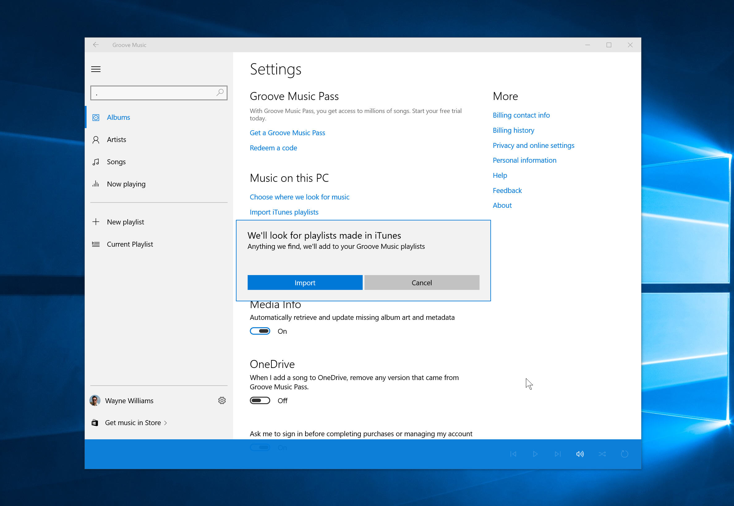 How to import iTunes playlists into Groove Music in Windows 10