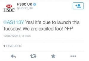 HSBC tweet