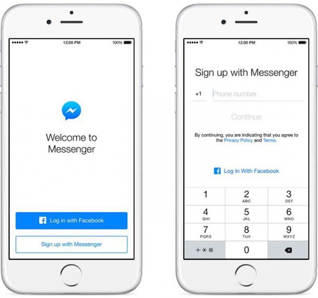 Messenger Sign Up Without Facebook Account iPhone iOS