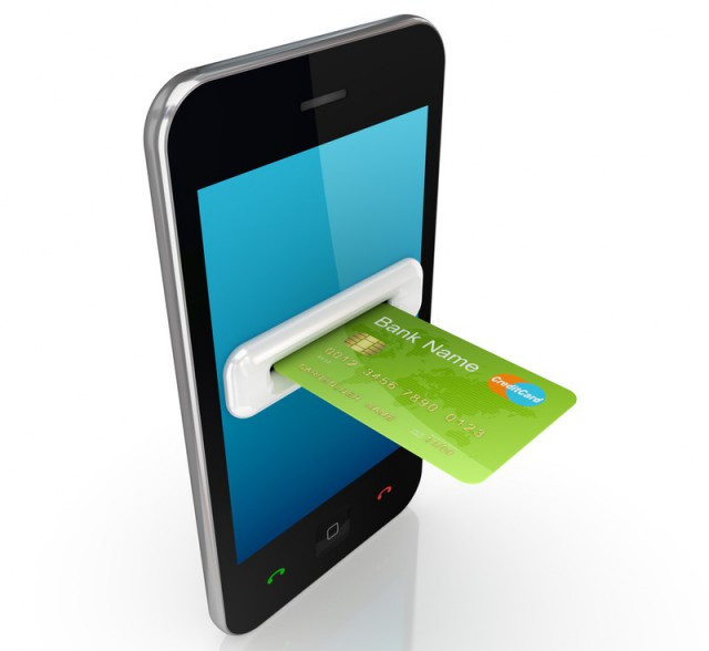Mobile with credit card