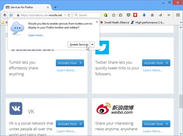 Mozilla Firefox 39 Hello