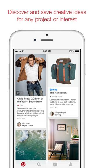 Pinterest iOS iPhone