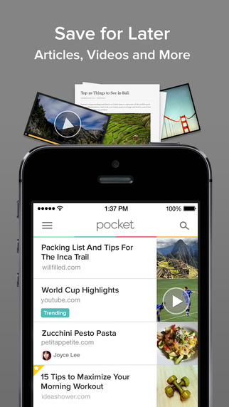 Pocket iOS iPhone