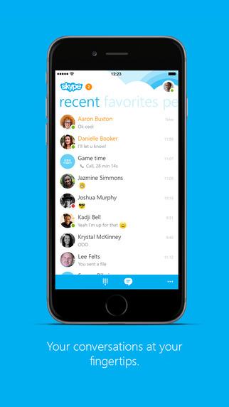 Skype iOS iPhone