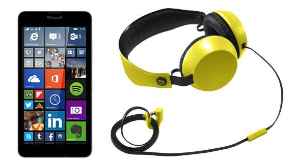T-Mobile Microsoft Lumia 640 with free Nokia headphones (Coloud Boom in yellow)