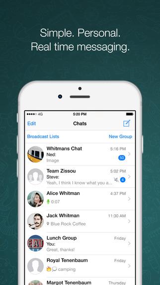WhatsApp iOS iPhone