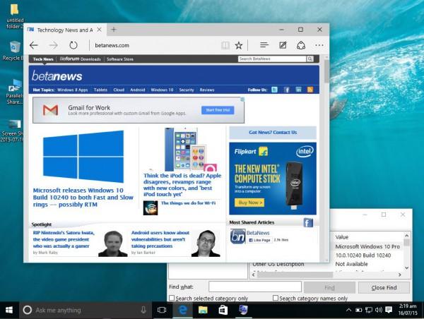 Windows 10 RTM Build 10240