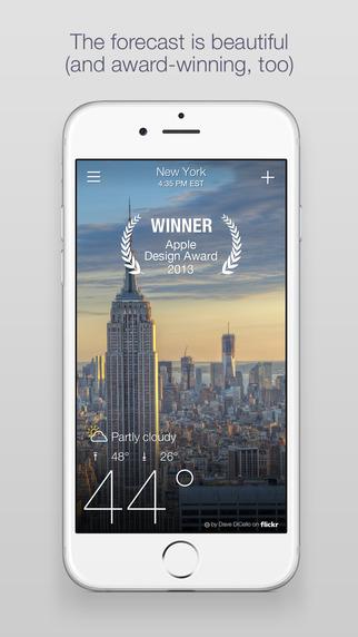 Yahoo Weather iOS iPhone