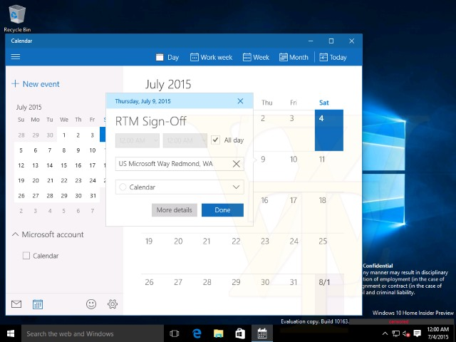 First Windows 10 RTM candidate is build 10176
