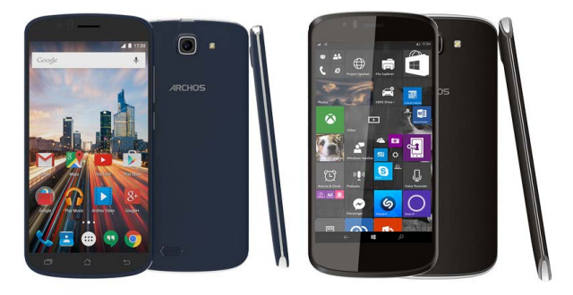 Archos Windows 10 Mobile 50 Cesium Android 5.1 Lollipop 50e Helium