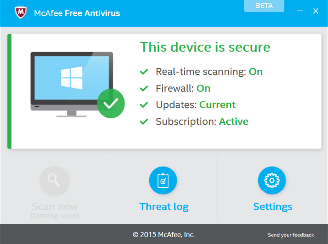 Mcafee releases first mcafee free antivirus beta Online antivirus download
