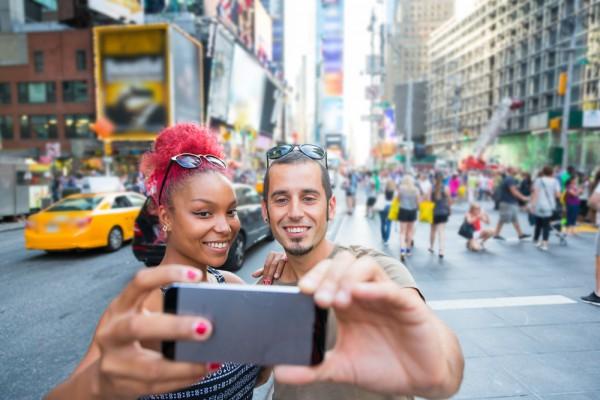 Times Square tourists