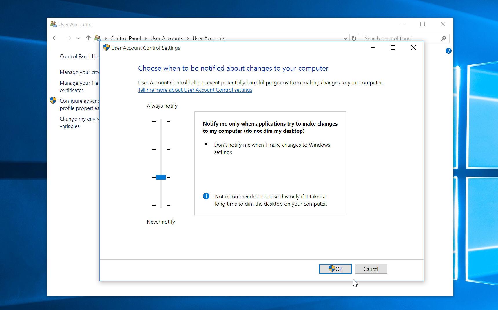 How to make windows 10s uac prompts less obtrusive xflitez Choice Image
