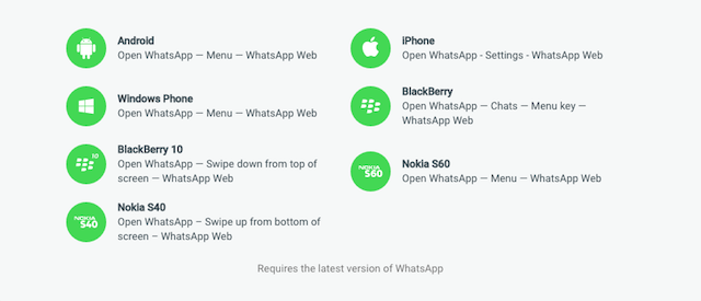 WhatsApp Web iPhone support