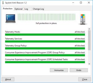 Spybot Anti-Beacon quickly closes Windows 10 privacy holes