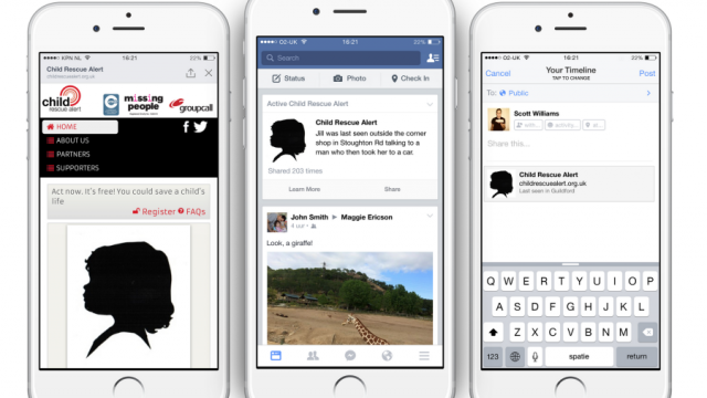 Facebook Missing Children Alert UK