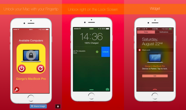MacLock lets you unlock a Mac using your iPhone or iPad's