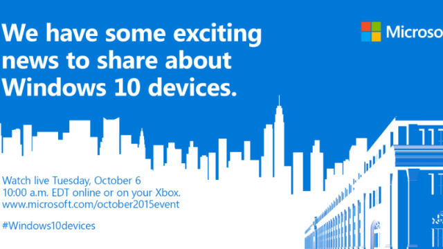 Microsoft October 6 Event
