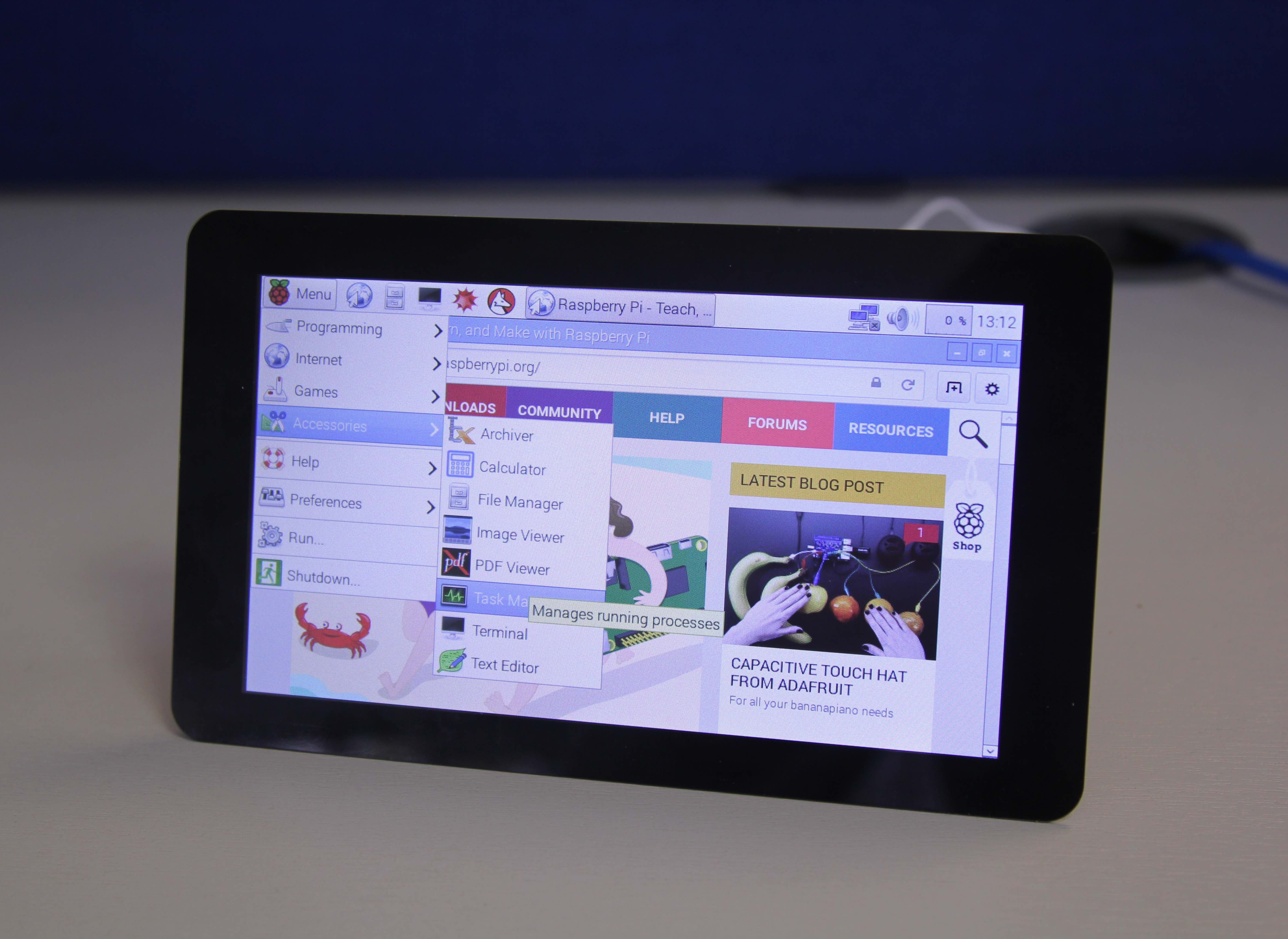Raspberry Pi screen front