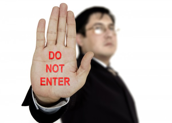 Stop Do Not Enter Hand