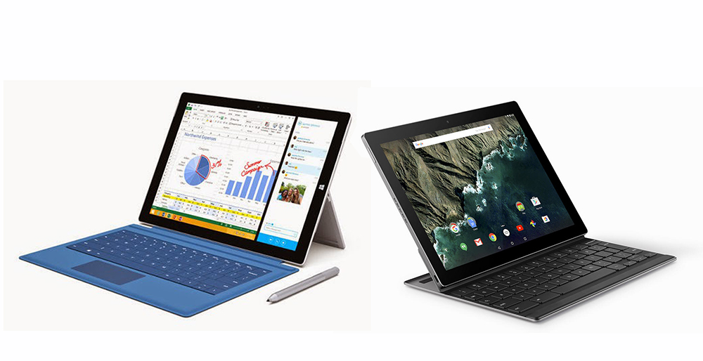Surface Pro 3 vs Pixel C