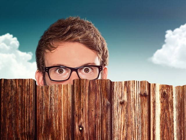 man_peering_over_fence