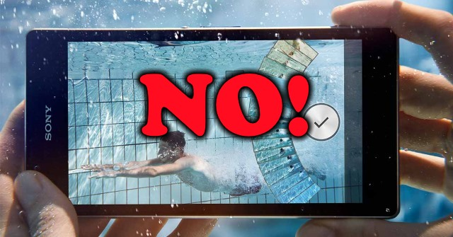 reputable site 3c7f6 adb95 WARNING! Sony decides its waterproof Xperia phones are not actually ...