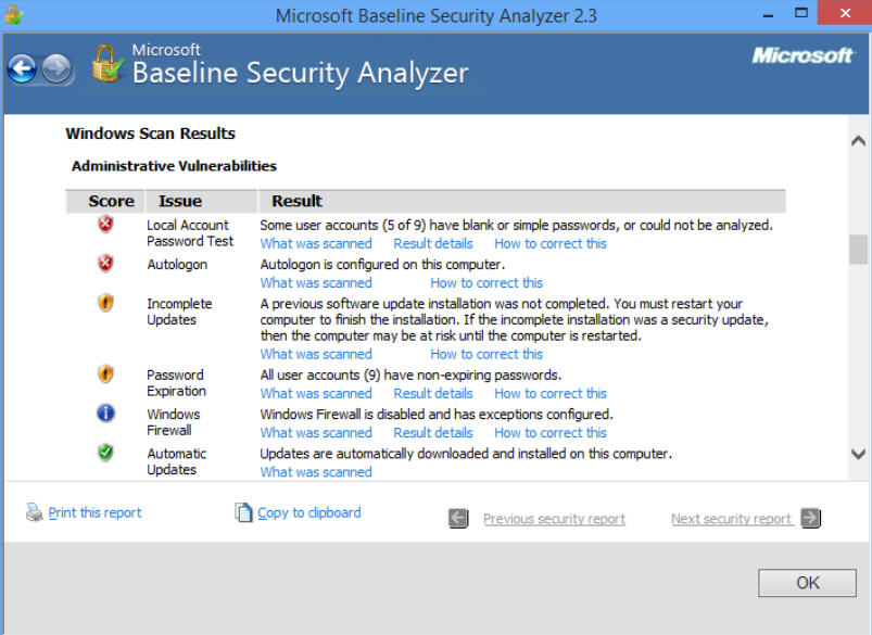 the microsoft baseline analyzer essay Microsoft baseline security analyzer (mbsa) is a software tool released by microsoft to determine security state by assessing missing security updates and less-secure.