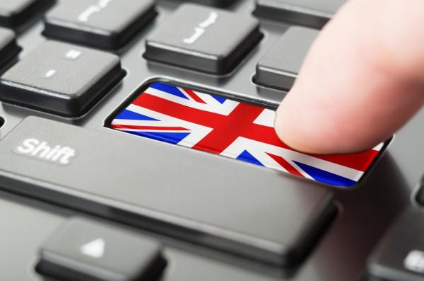 Tastatur mit Unionsflagge