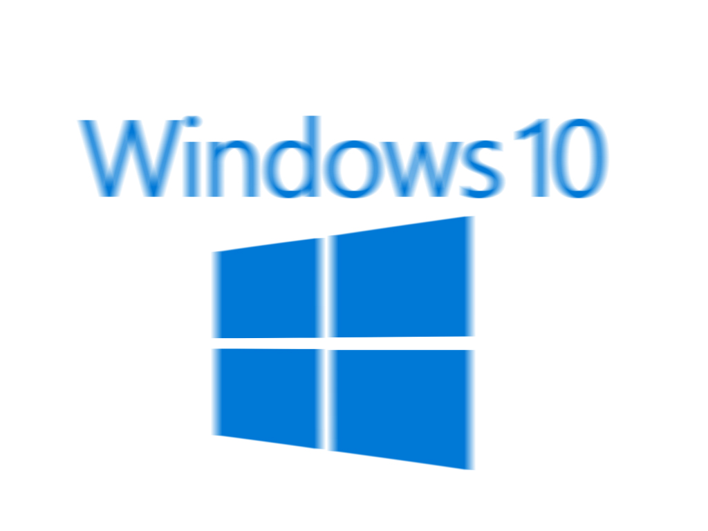 Windows 10 blurred