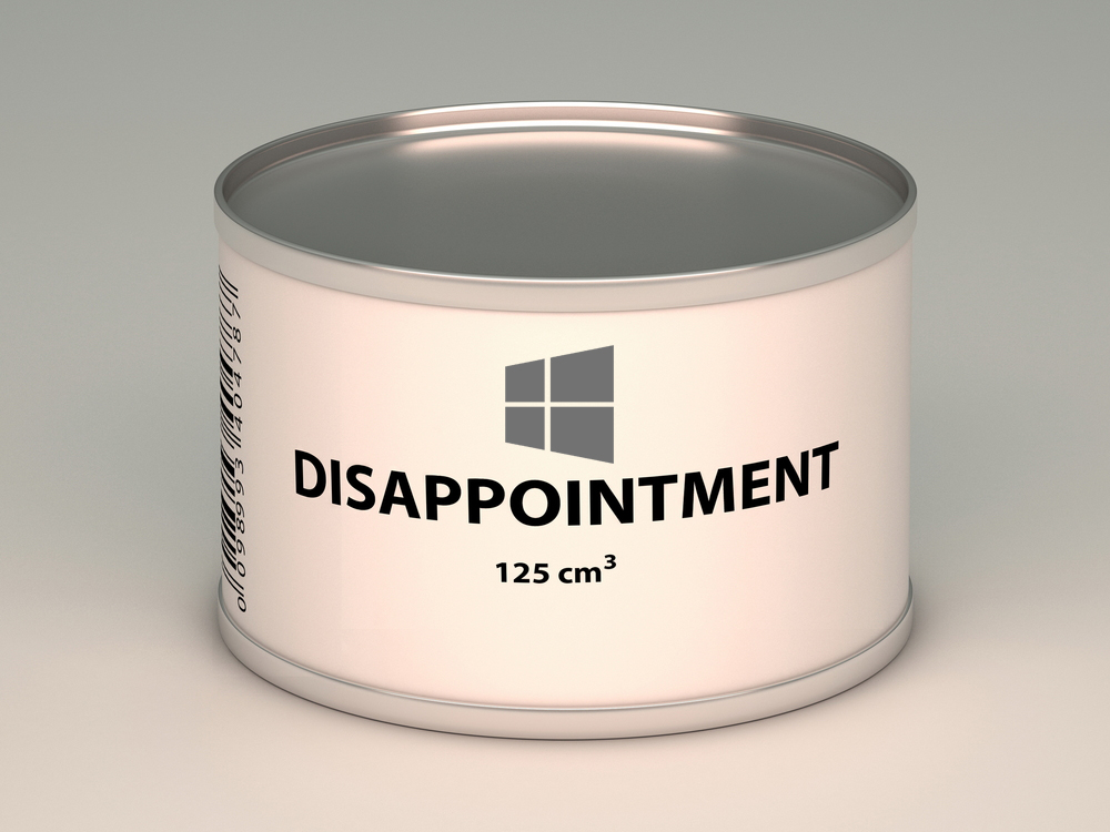 Windows 10 disappointment