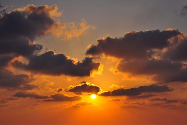 clouds cloud sundown sunset
