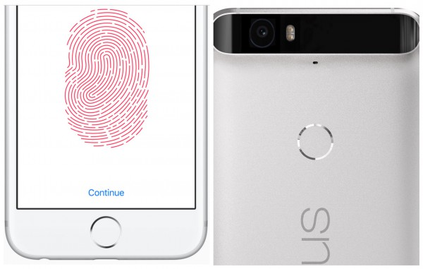 iPhone 6s Plus Nexus 6P Fingerprint Readers