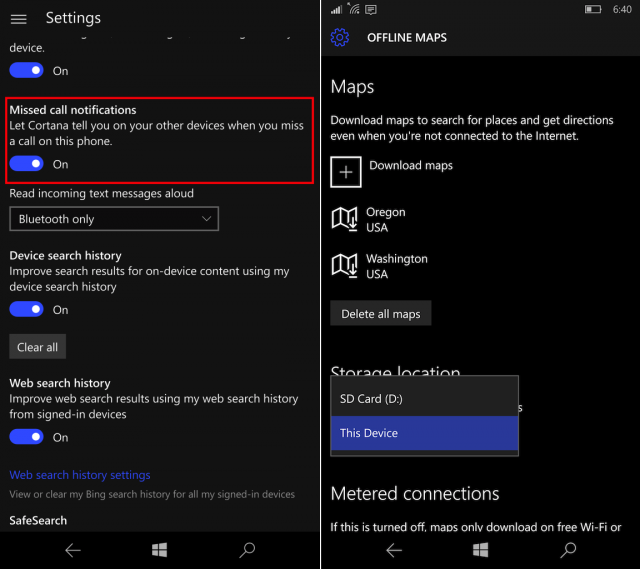 windows-10-mobile-insider-preview-build-10572-cortana-missed-call-settings-offline-maps