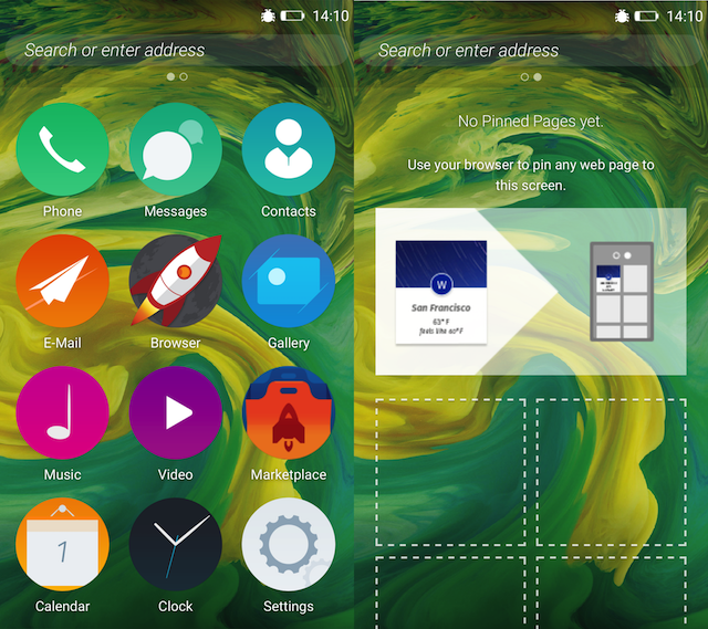 Firefox OS 2.5 Developer Preview Android Launcher App